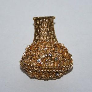 Vintage gold avon locket brooch